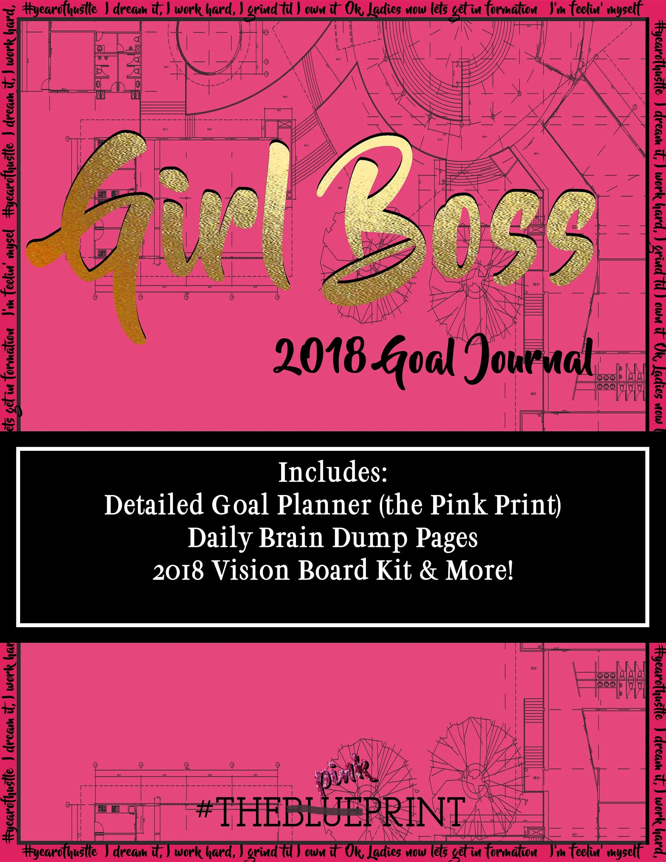 2nd Annual Girl Boss Goal Journal Goal Planner Goal