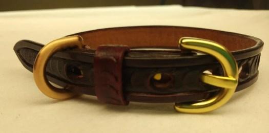 Leather Cat collar, leath...