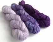 Hand dyed yarn set, sweat...
