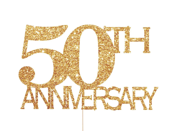 50th Anniversary Decorations 50th Anniversary Cake Topper