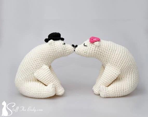 Kissing Bears Amigurumi Pattern Wedding Crochet Pattern Home