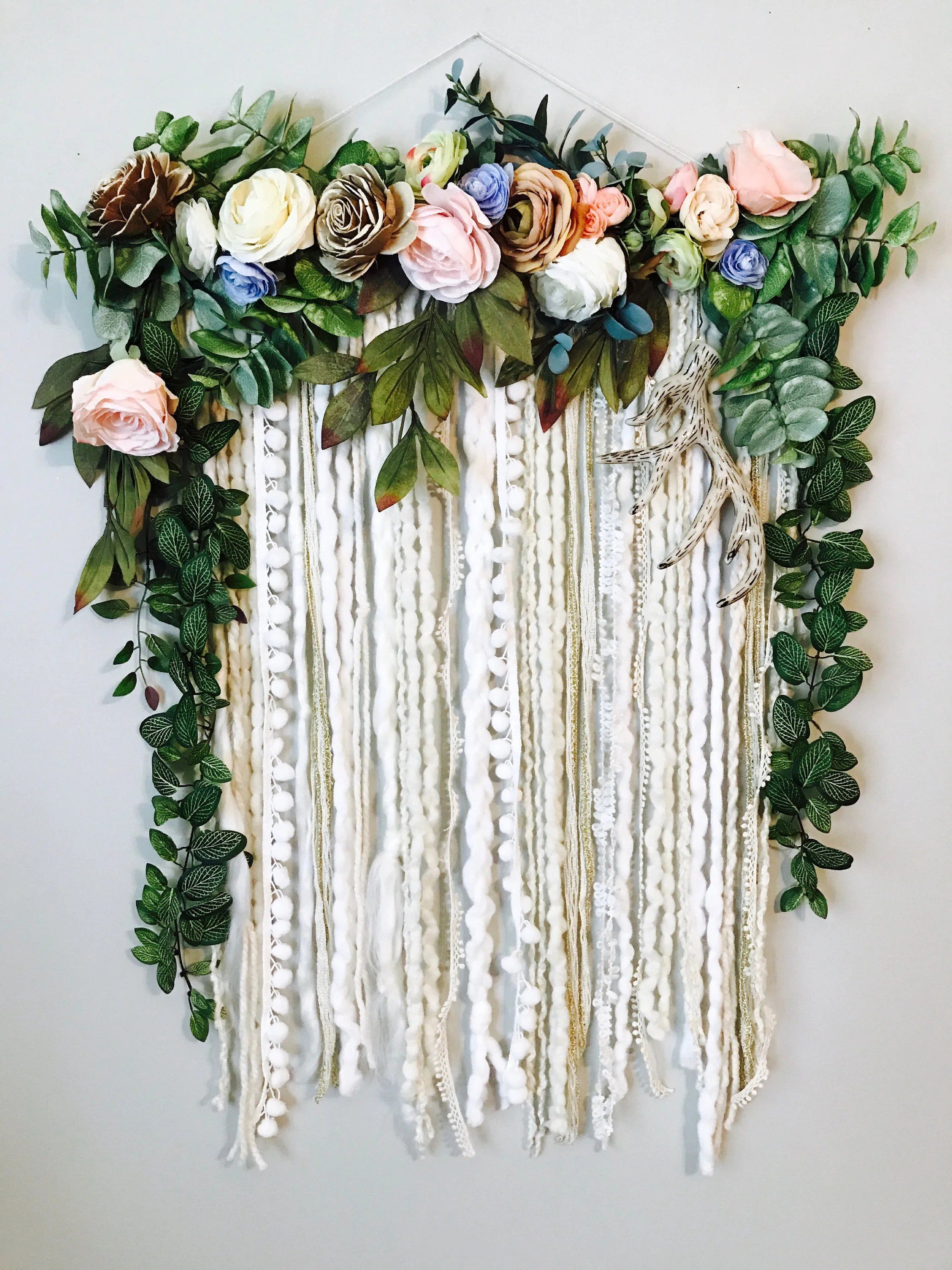 Wall Hanging Floral Wall Hanging Flower Wall Art Large Wall on Hanging Wall Sconces For Flowers id=89281