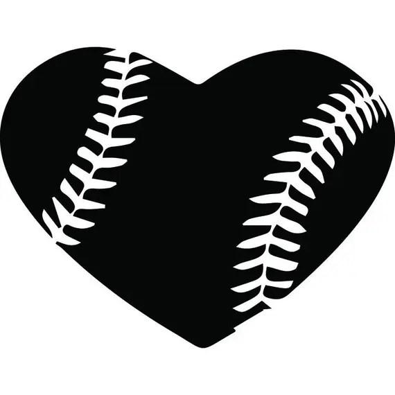 Download Baseball Heart #1 Ball Stitches Love Sports League ...