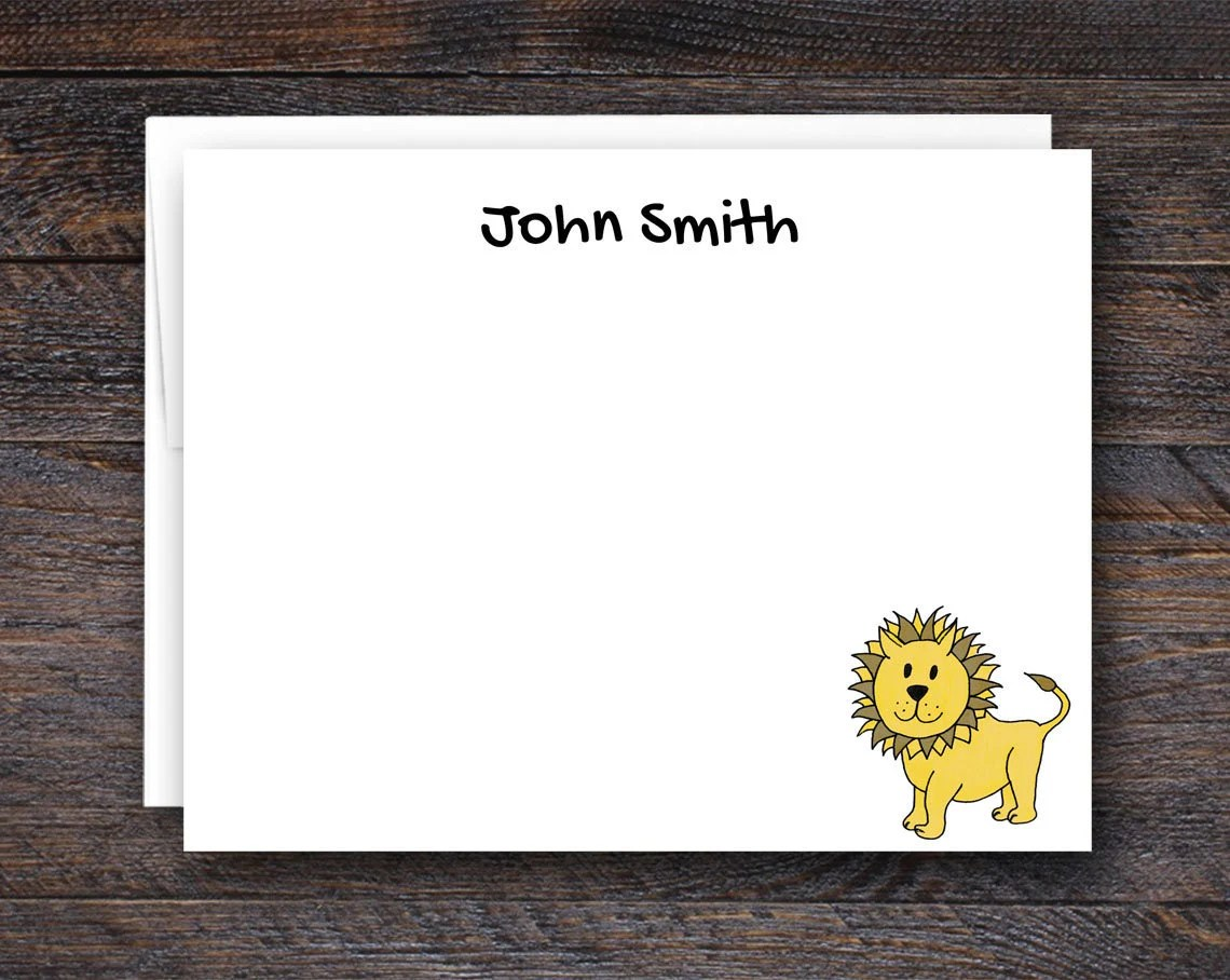 Cute Lion Stationery for ...