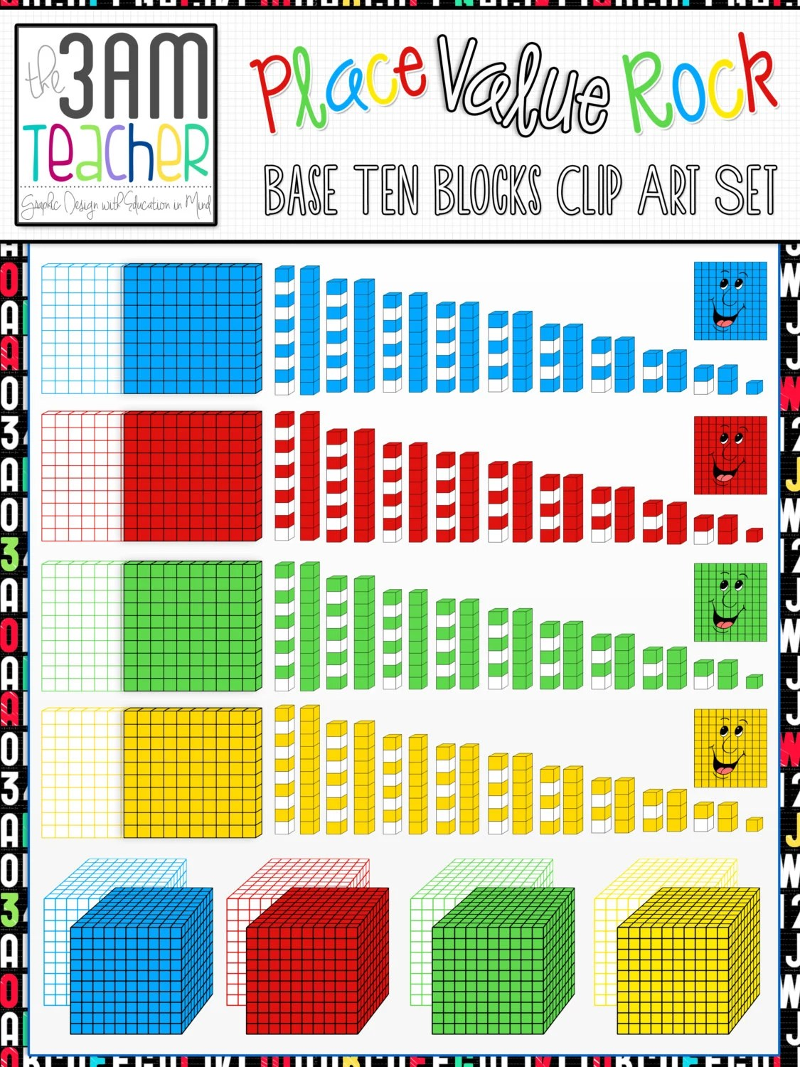Place Value Rock Base Ten Blocks Amp More Clip Art Collection