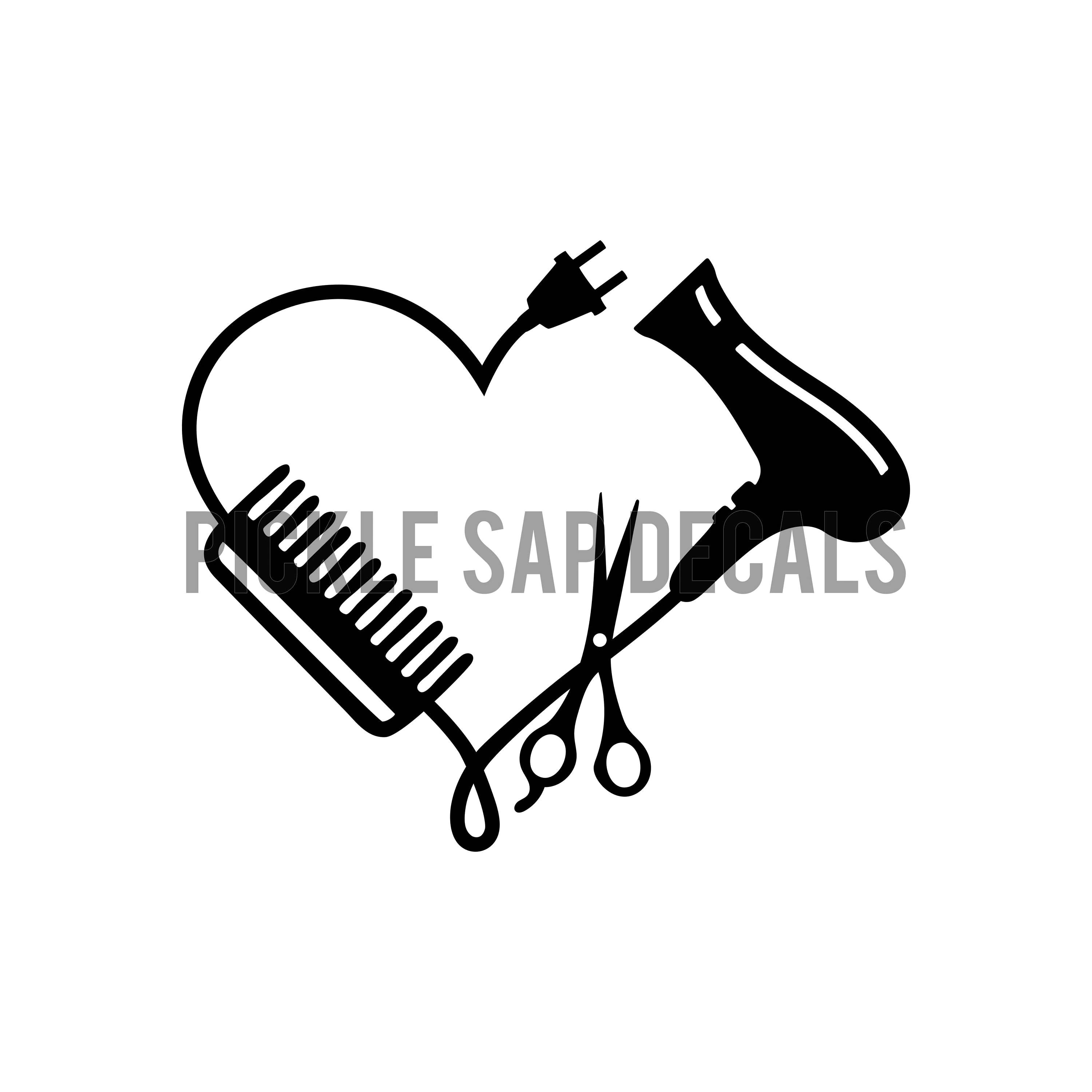 Hairdresser Stylist Cosmetic Scissors And Comb Blow
