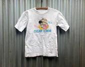 Cream Lemon -- White t-sh...