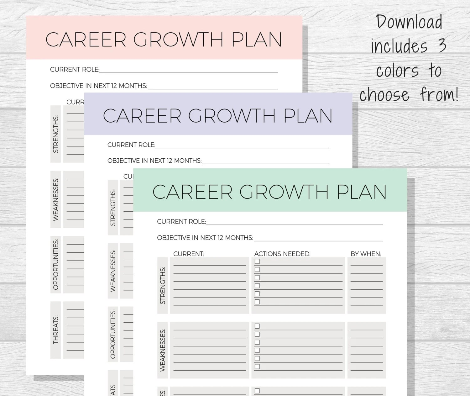 Business Goals Printable Goal Setting Work Goals Self