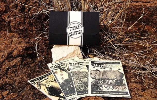 Postcard set DESERT CRITT...