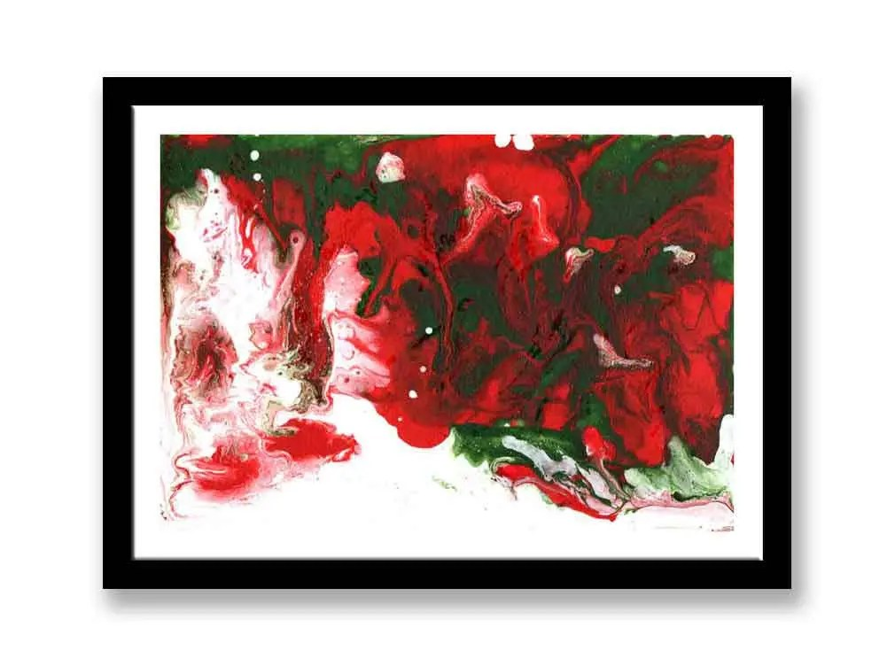 Red and Green abstract / ...
