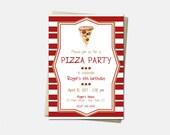 Pizza Party Invitations -...