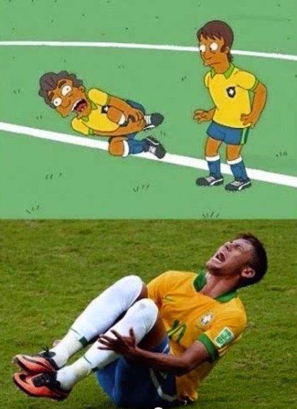 La lesión de Neymar la predijeron Los Simpsons en un capítulo