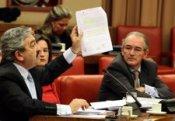 Andrés Ayala y otros diputados del PP en la Comisión de Fomento
