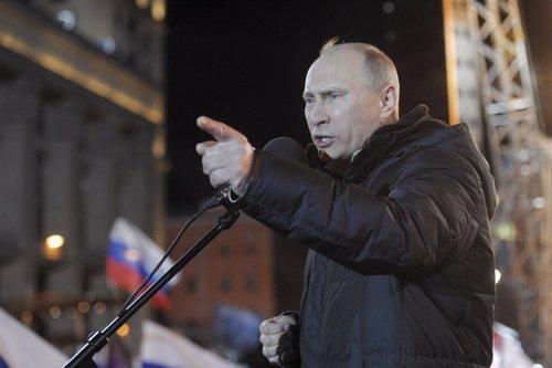 Vladimir Putin Tras Ganar Las Elecciones Presidenciales En Rusia