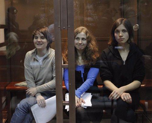 Miembros del grupo de punk Pussy Riot