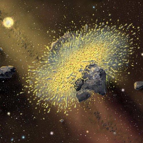 Recurso artístico de un asteroide
