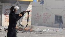 Soldado Túnez manifestación