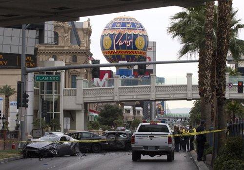 Tiroteo con persecución y accidente en Las Vegas