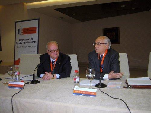 El magistrado del TS Carlos Granados en el Congreso de Jueces y Economistas