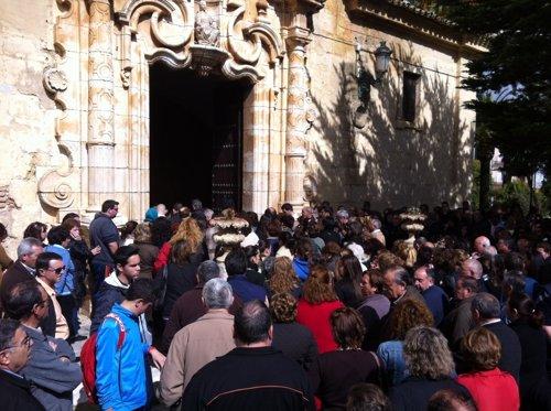 Funeral por la muerte de la niña en Campillos