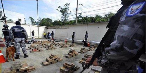 Droga incautada en Guayaquil