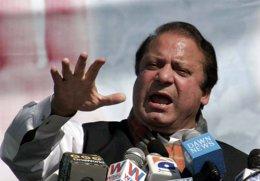 El líder de la oposición pakistaní, Nawaz Sharif