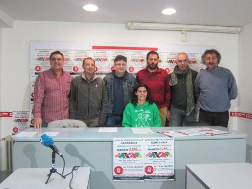 Presentación de la 'Marcha por la Dignidad' de Cantabria