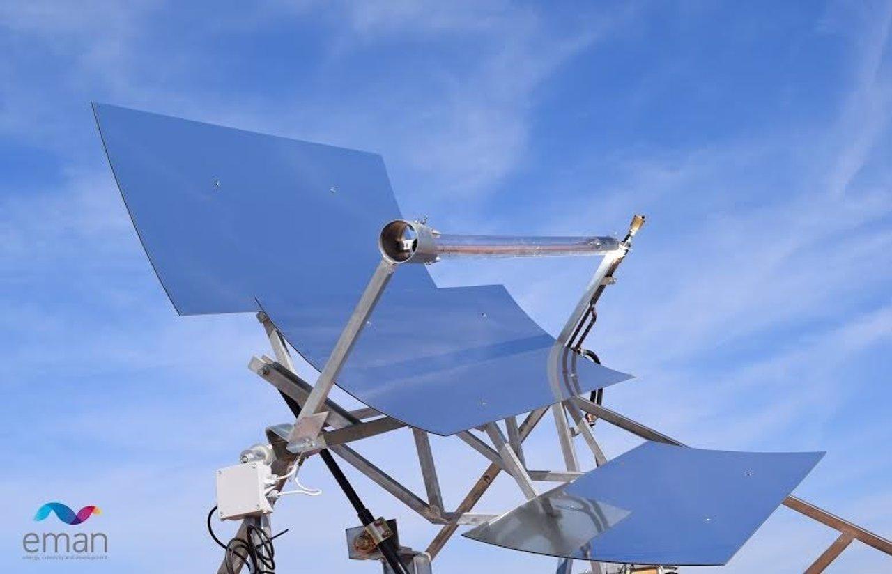 Captador solar diseñado por la ingeniería andaluza Eman.