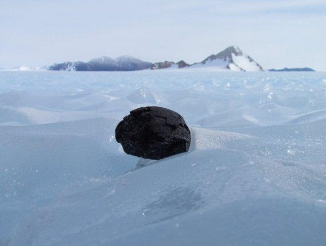 Meteorito en la Antártida. FOTO: Universidad de Manchester