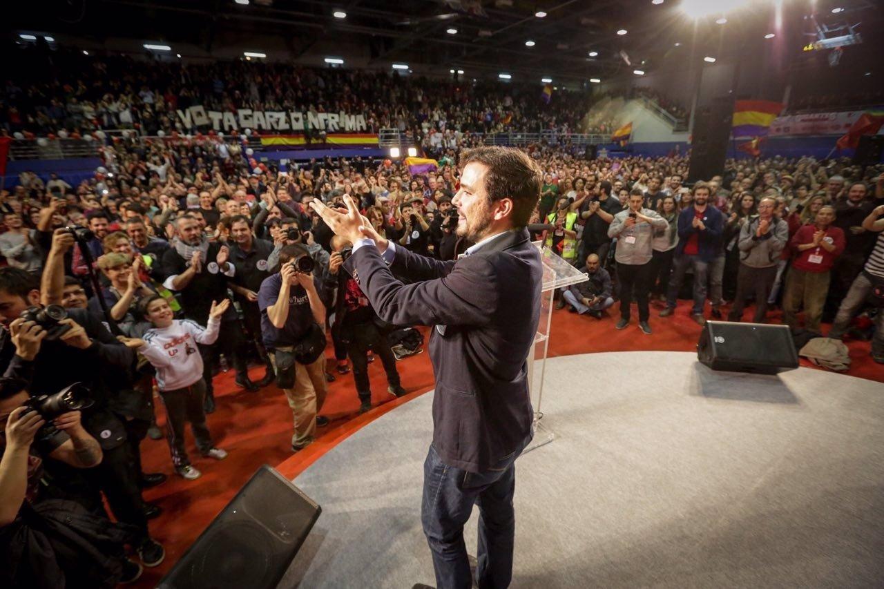 Alberto Garzón cierra campaña en Getafe (Madrid)