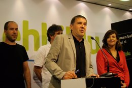 Arnaldo Otegi y dirigentes de EH Bildu