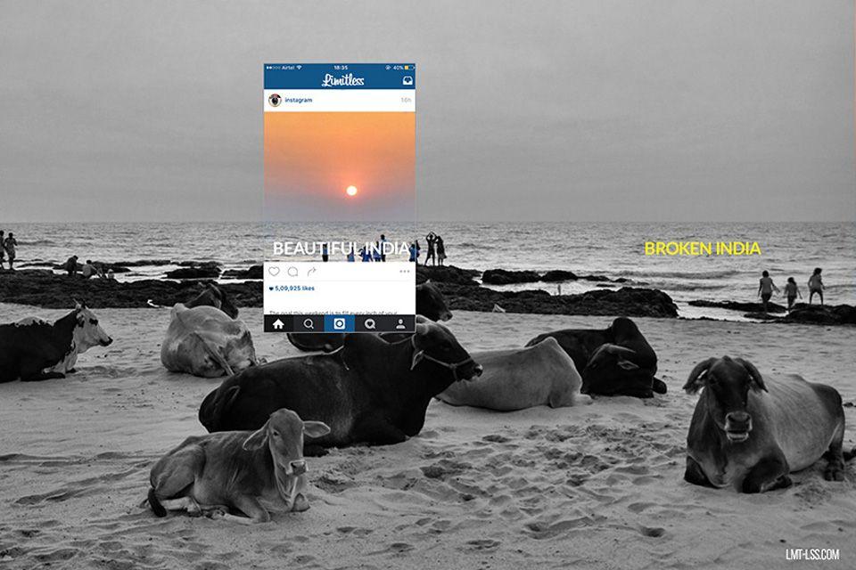 Derrière un beau coucher de soleil se cache...