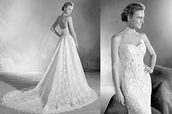2 In 1: Detachable Wedding Dress