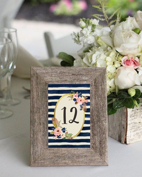 Table Number Ideas 2