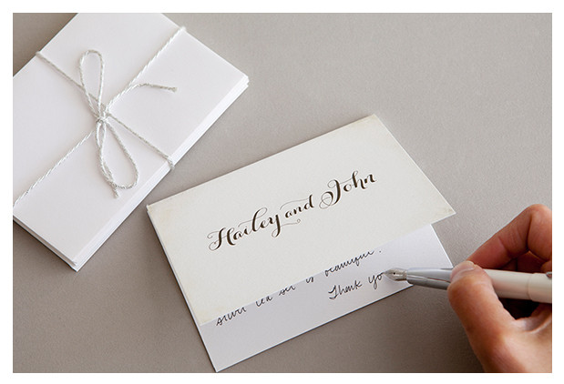Wedding Etiquette Thank You Cards