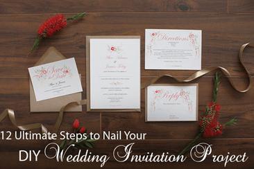 Diy Wedding Invitation A Step By Ste