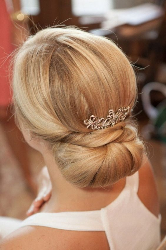 simple and sleek low bun