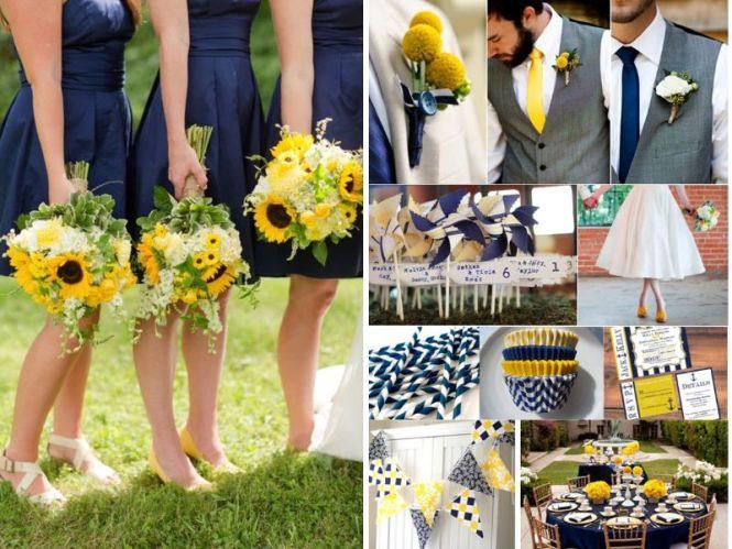 Blue And Sunshine Yellow Wedding Theme