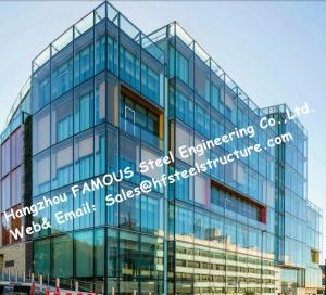 Quality Tinted Color Invisible Frame Aluminum Glass Façade Curtain Wall Double Glazed Spandrel Insulation For