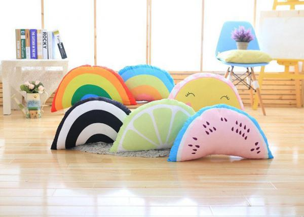 colorful cute plush pillows rainbow shaped pillow with 100 pp cotton fill in for sale cute plush pillows manufacturer from china 108810164