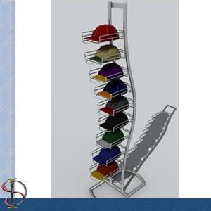 12 tiers floor standing hat rack metal