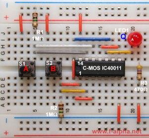 falpha: Experiment 18  Logic with NAND Gates II