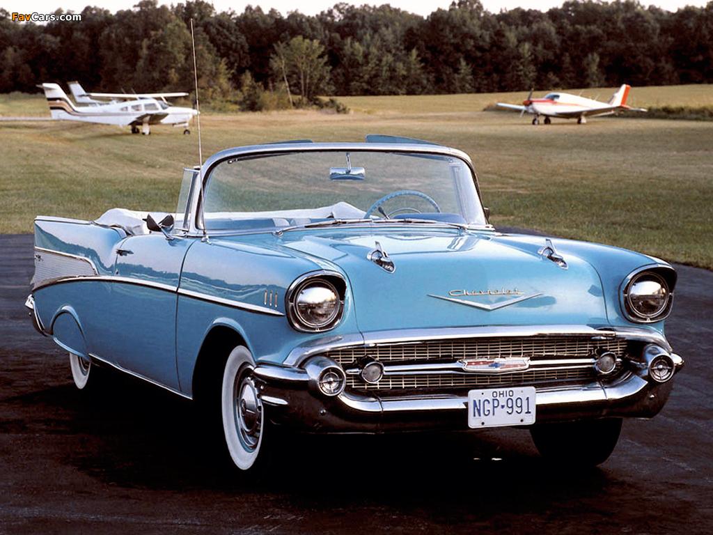 1957 Chevy Bel Air Wallpaper Convertible Lowrider