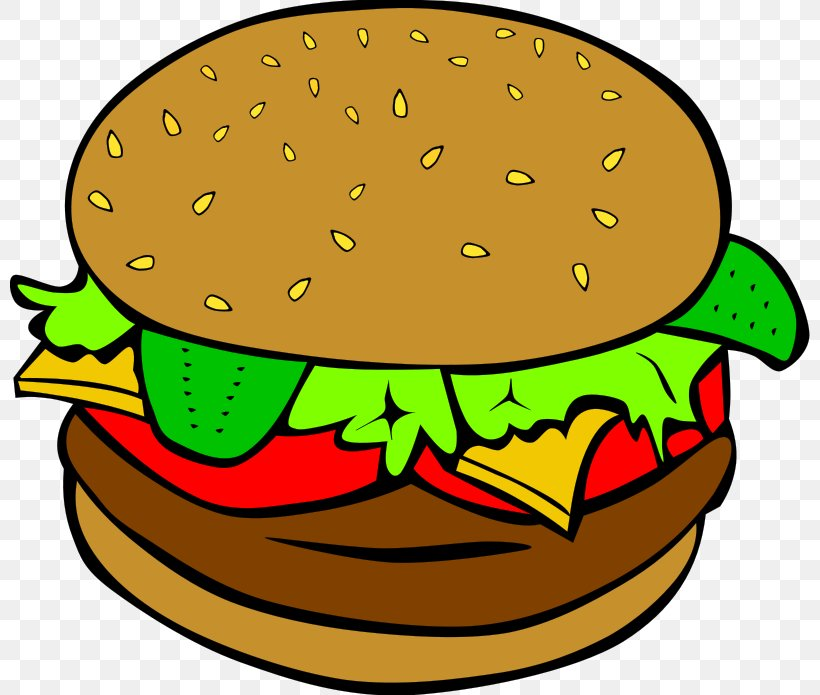 Hamburger Fast Food Junk Food Clip Art Png 800x695px Hamburger Artwork Beak Breakfast Cheeseburger Download Free