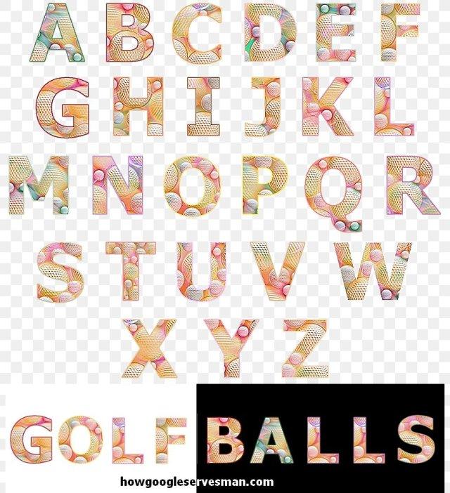 Typography Alphabet Letter Cut Copy
