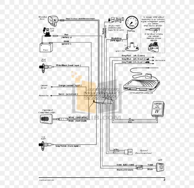 wiring diagram car alarm schematic png 612x792px diagram