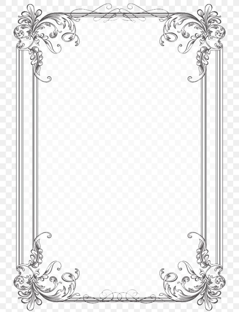 borders and frames wedding invitation