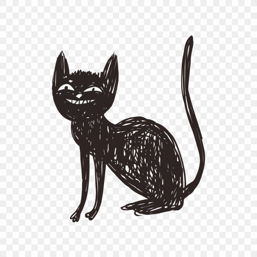 Huge collection, amazing choice, 100+ million high quality, affordable rf and rm images. Cat Halloween Illustration Png 1000x1000px Cat Black And White Black Cat Carnivoran Cartoon Download Free