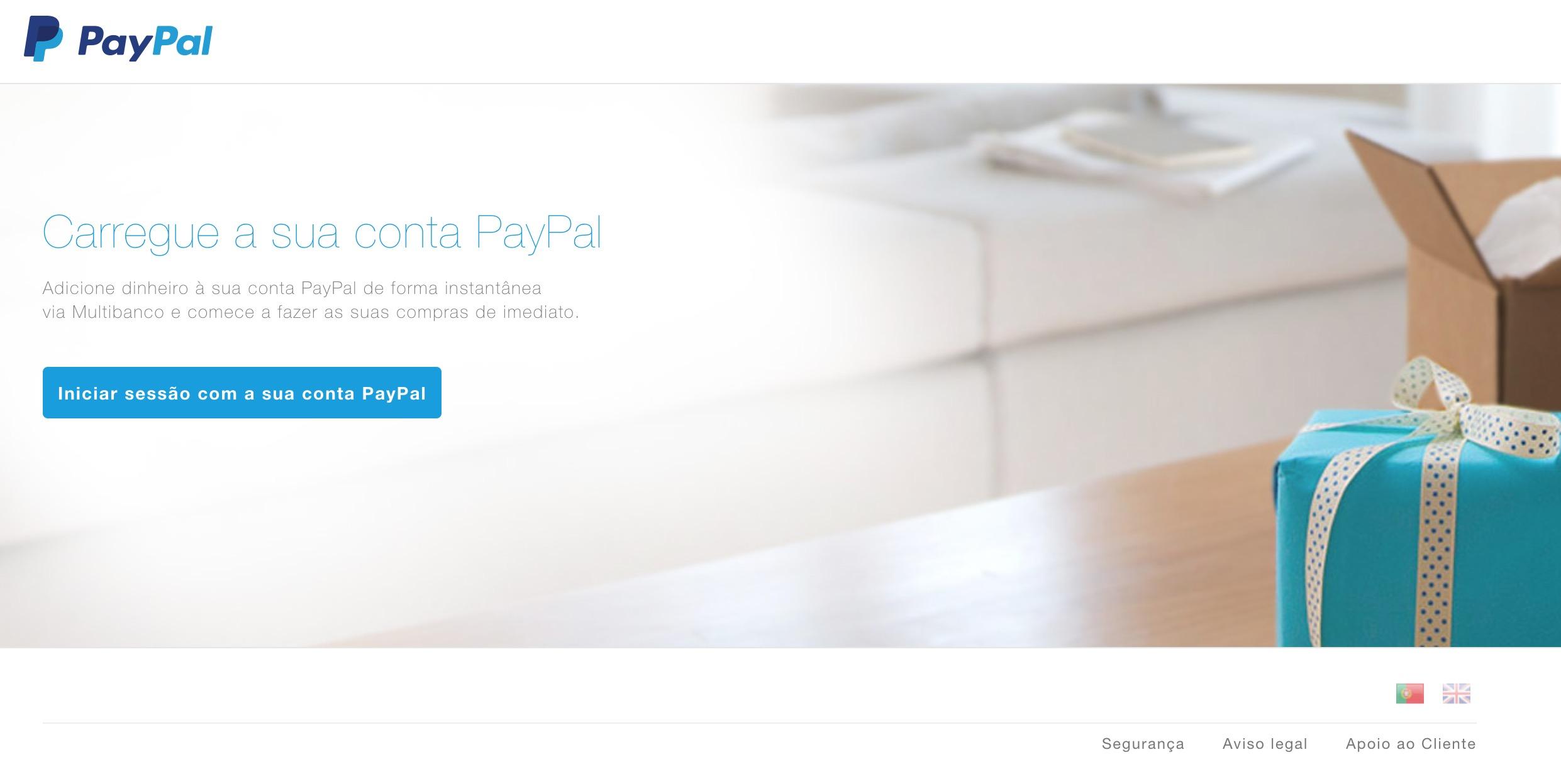 Paypal carregamento