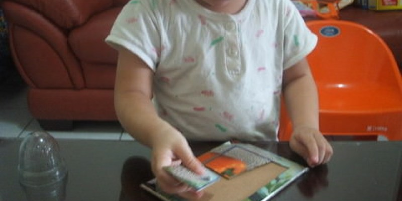舊物改造 月曆拼圖~適合小朋友玩的簡單拼圖diy